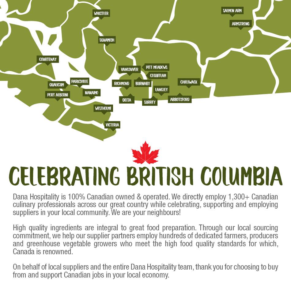 Celebrating British Columbia Map